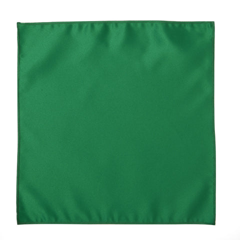 Deluxe Satin Formal Pocket Square (Kelly Green)