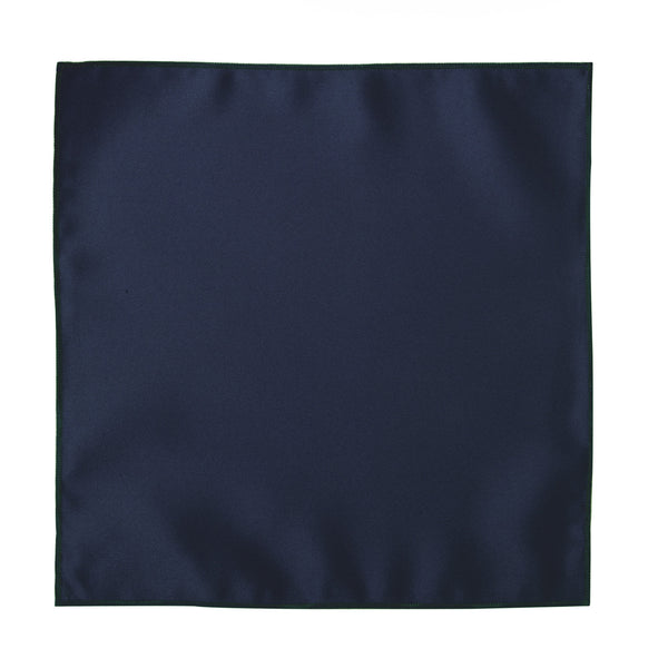 Deluxe Satin Formal Pocket Square (Navy Blue)