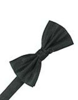 Asphalt Herringbone Formal Bow Tie