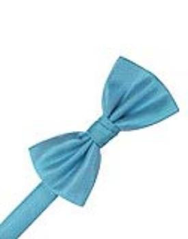 Blue Ice Herringbone Formal Bow Tie