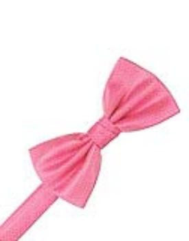 Bubblegum Herringbone Formal Bow Tie