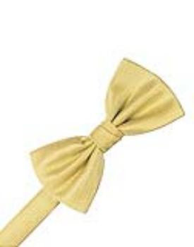 Buttercup Herringbone Formal Bow Tie