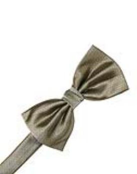 Champagne Herringbone Formal Bow Tie