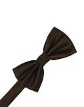 Chocolate Herringbone Formal Bow Tie