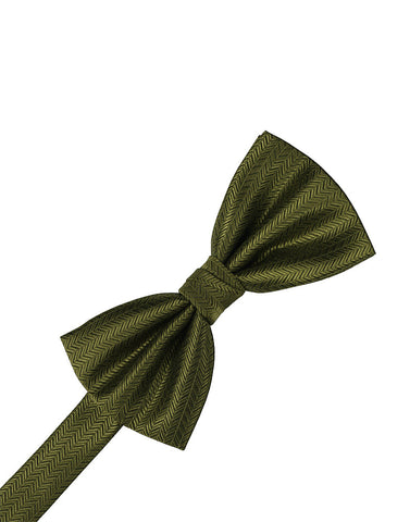 Fern Herringbone Formal Bow Tie