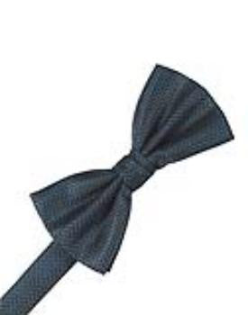 Haze Blue Herringbone Formal Bow Tie