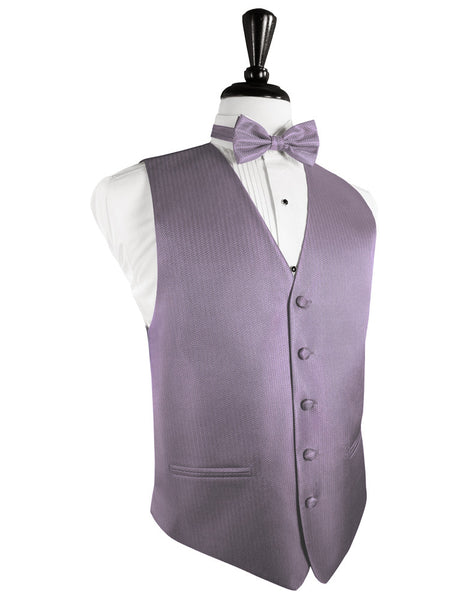 Heather Herringbone Tuxedo Vest and Tie Set