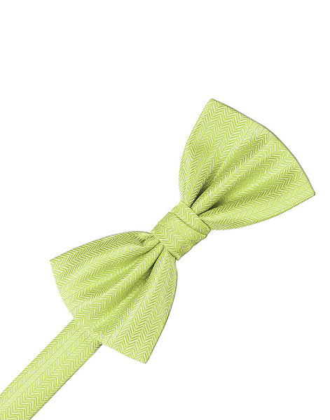 Kiwi Herringbone Formal Bow Tie