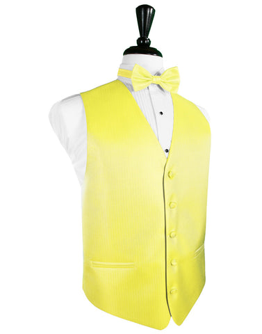 Lemon Herringbone Tuxedo Vest (5X-Large LONG (62-64))