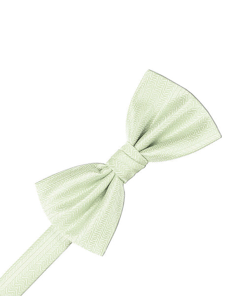 Pistachio Herringbone Formal Bow Tie