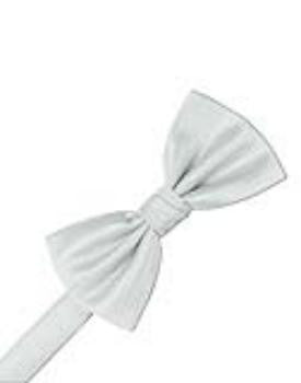 Platinum Herringbone Formal Bow Tie