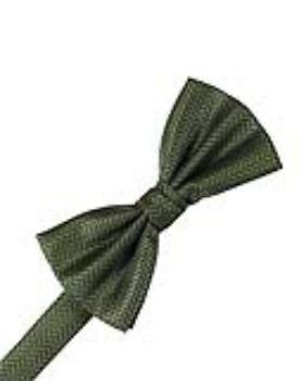 Sage Herringbone Formal Bow Tie