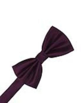 Sangria Herringbone Formal Bow Tie