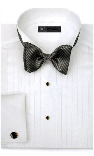 Ike Behar Tuxedo Shirt - Wing Collar - 50's Broadcloth Cotton