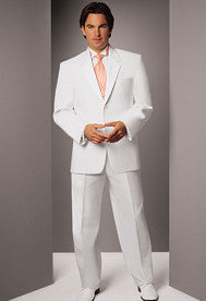 White Tuxedo Jacket with Notch Lapel