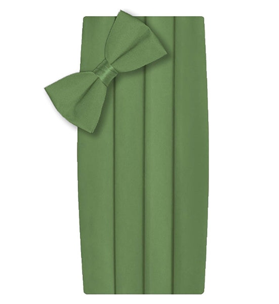 Poly/Satin Cummerbund and Bow Tie Set - Kelly Green
