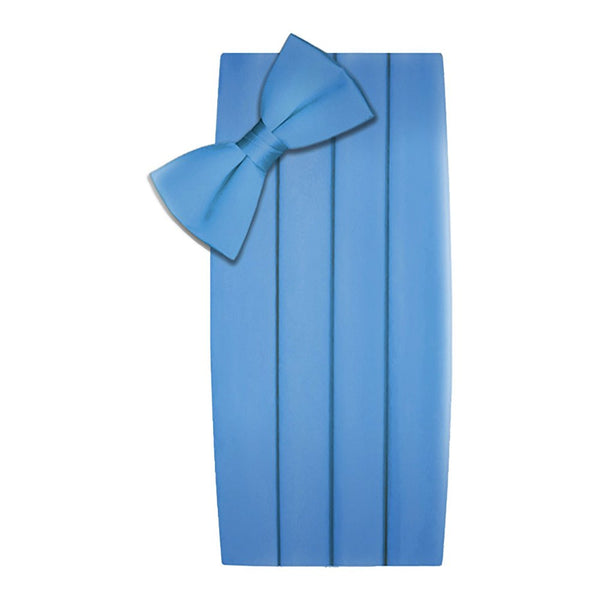 Poly/Satin Cummerbund and Bow Tie Set - Light Blue