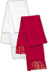 Men's Formal Scarf - Formal Scarves Available in White, Red and Black (White)