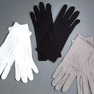 Formal Nylon Gloves (White)