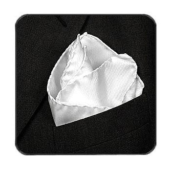 Deluxe Satin Formal Pocket Square (Light Grey)