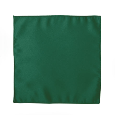 Deluxe Satin Formal Pocket Square (Emerald Green)
