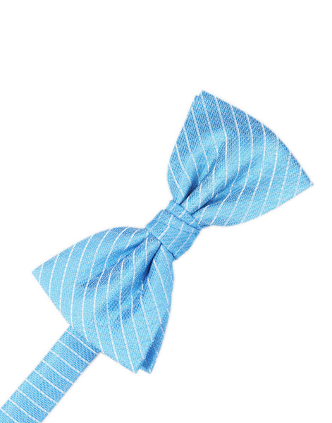 Blue Ice Diamond Grid Pattern Formal Bow Tie