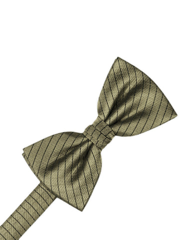 Champagne Diamond Grid Pattern Formal Bow Tie