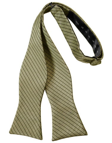 Champagne Diamond Grid Pattern Self-Tie Bow Tie