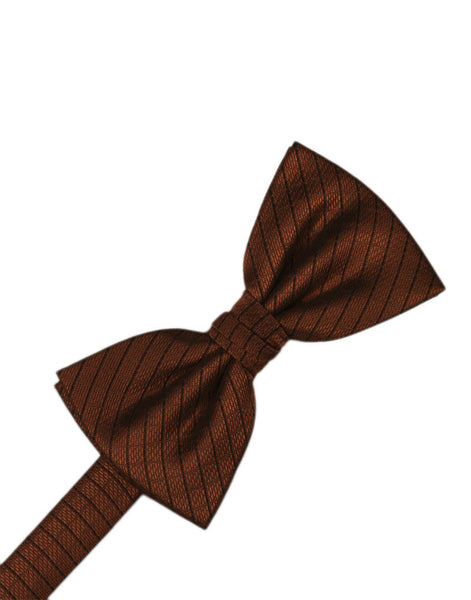 Cinnamon Diamond Grid Pattern Formal Bow Tie