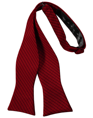 Claret Diamond Grid Pattern Self-Tie Bow Tie