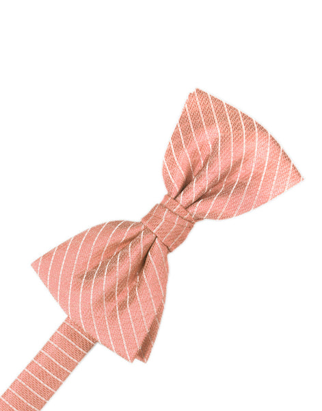 Coral Diamond Grid Pattern Formal Bow Tie
