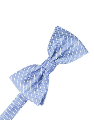 Cornflower Diamond Grid Pattern Formal Bow Tie
