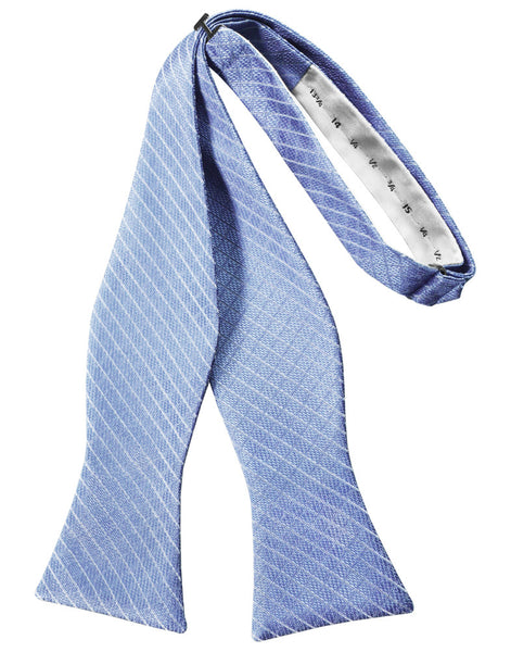 Cornflower Diamond Grid Pattern Self-Tie Bow Tie