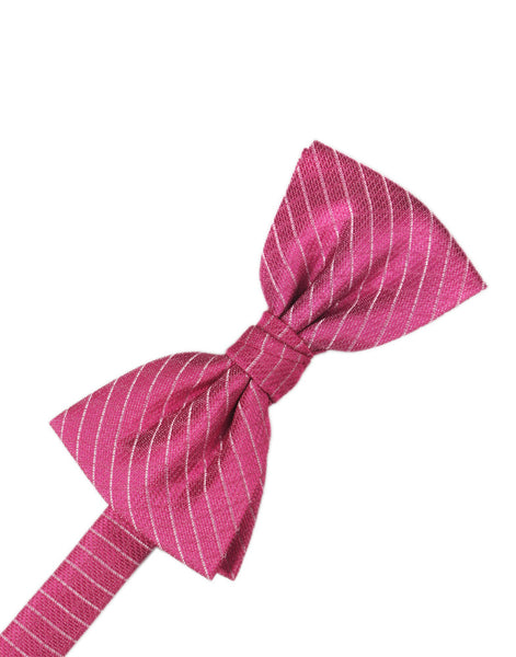 Fuchsia Diamond Grid Pattern Formal Bow Tie