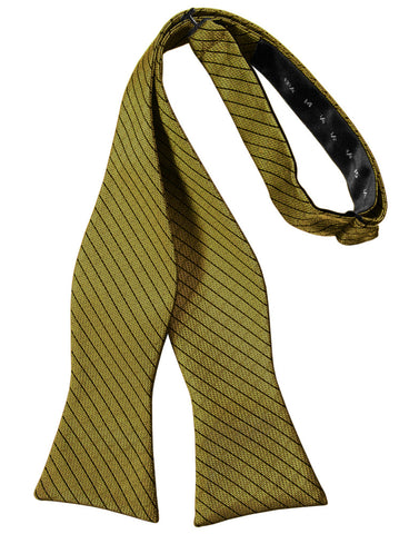 Gold Diamond Grid Pattern Self-Tie Bow Tie