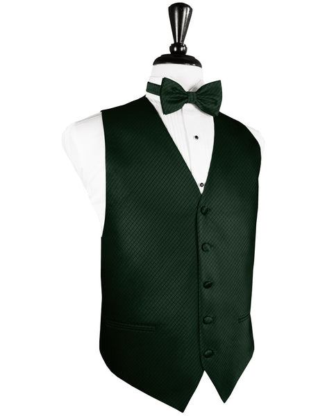 Hunter Green Palermo Tuxedo Vest and Tie Set