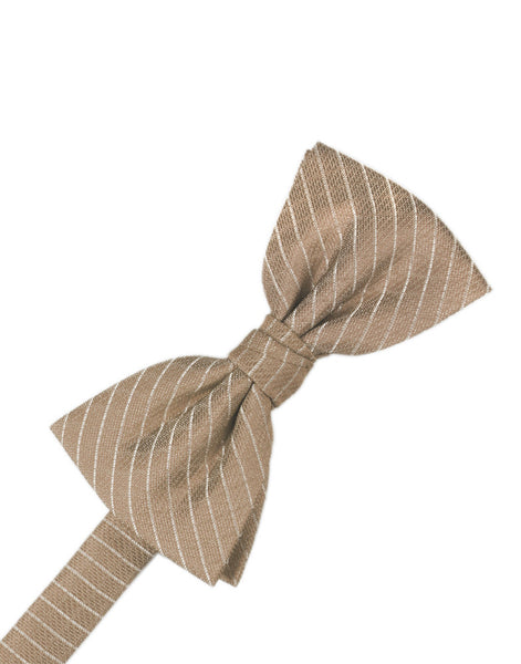 Latte Diamond Grid Pattern Formal Bow Tie