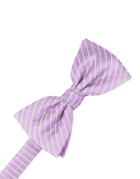 Lavender Diamond Grid Pattern Formal Bow Tie