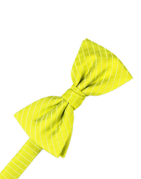 Lemon Diamond Grid Pattern Formal Bow Tie