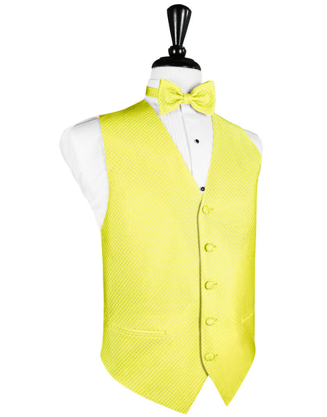 Lemon Palermo Tuxedo Vest and Tie Set