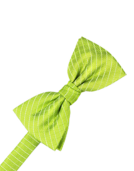 Lime Diamond Grid Pattern Formal Bow Tie
