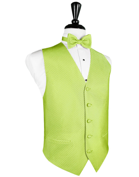 Lime Green Palermo Tuxedo Vest and Tie Set