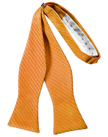 Mandarin Diamond Grid Pattern Self-Tie Bow Tie