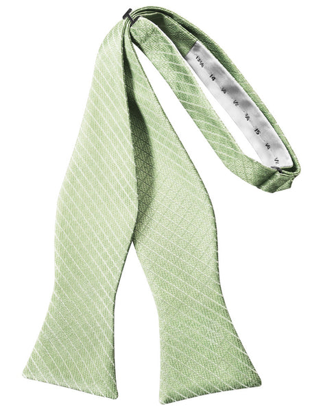 Mint Diamond Grid Pattern Self-Tie Bow Tie
