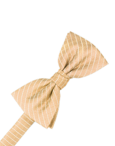 Peach Diamond Grid Pattern Formal Bow Tie