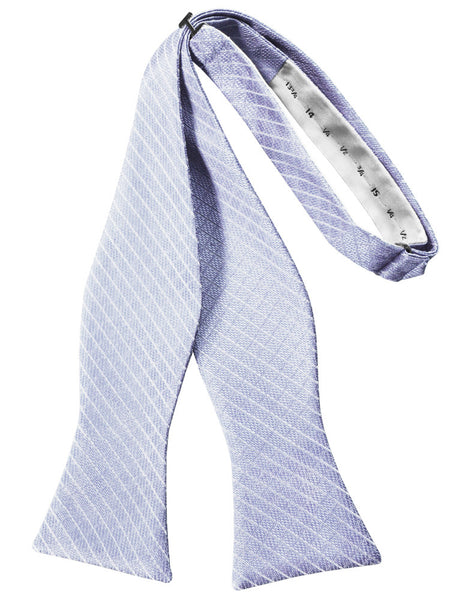 Periwinkle Diamond Grid Pattern Self-Tie Bow Tie