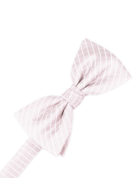 Pink Diamond Grid Pattern Formal Bow Tie
