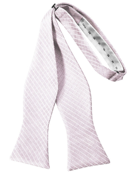 Pink Diamond Grid Pattern Self-Tie Bow Tie