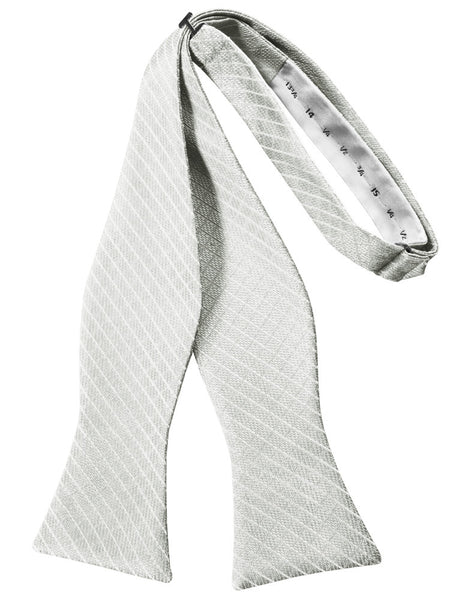 Platinum Diamond Grid Pattern Self-Tie Bow Tie