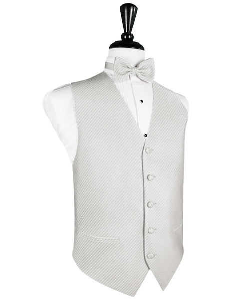 Platinum Palermo Tuxedo Vest and Tie Set